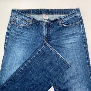 Lucky Brand Straight Leg Dunagrees, size 12